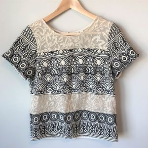 NWT - Anthropologie - Frienze Embrodiered Top